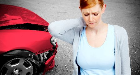 Woman in need of auto injury treatment in Wilmington